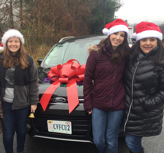 CVFCU employees participating in holiday parade