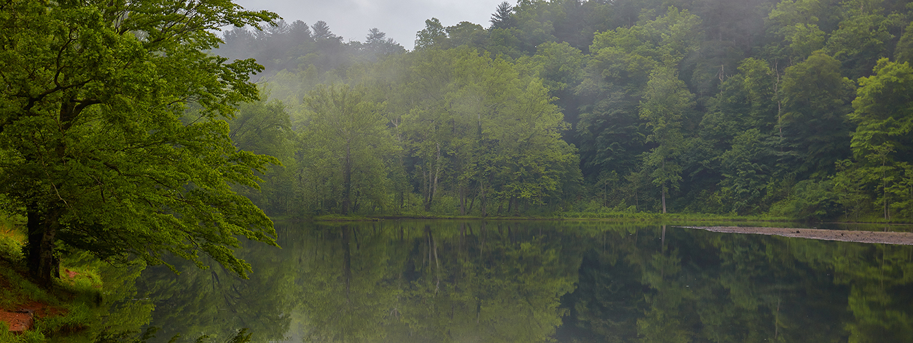 Image of lake in Amherst county